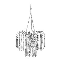 ZAPPOBZ HLLWF4 Crystal Faceted Waterfall Chandelier by ZAPPOBZ