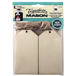 Loew Cornell 1023704 8 Piece Transform Mason Large Wooden Square Tags by Loew-Cornell