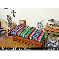RUG&PIECE Mexican Serape made in mexcico ネイティブ メキシカン サラペ メキシコ製(rug-5490)