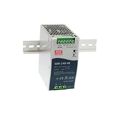 Taiwan MeanWell SDR-240-24 240W Single Output Industrial DIN RAIL with PFC Function Meanwell SDR...