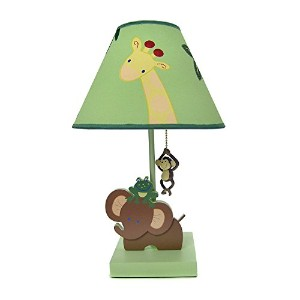 High Quality Jungle Babies Lamp and Shade
