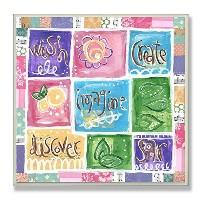 High Qualityell Wish, Imagine, Create, Discover, Soar Patckwork Square Wall Plaque