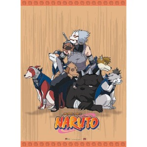 High Quality Naruto Kakashi with Dogs Wall Scroll, 33 by 44-Inch