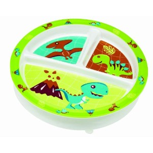 Sugarbooger Divided Suction Plate Prehistoric Pals for 3 Months (Green)
