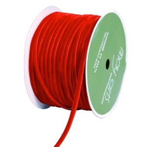 "Velvet Ribbon 1/8""x50 Yards-Red (並行輸入品)"