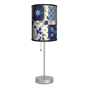 Dcor Art - Portuguese Tile Sport Silver Lamp by Lamp-In-A-Box