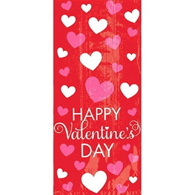 Happy Valentine 's Day Small Party Bags 20 Bags 1.00 X 8.00 x5.00 in
