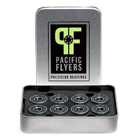 Pacific Flyers Premium ABEC 9 Skateboard Bearings / Set of 8 by Pacific Flyers