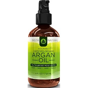 InstaNatural Organic Argan Oil For Hair, Face, Skin & Nails - 100% Pure & EcoCert Certified Organic...