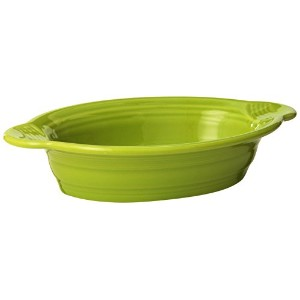 Fiesta 9-Inch by 5-Inch Individual Oval Casserole, Lemongrass by Homer Laughlin
