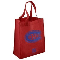 NHL エコ リサイクル トートバッグ カナディアンズ Montreal Canadiens Red Reusable Tote Bag
