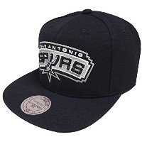 Mitchell & Ness San Antonio Spurs Wool Solid NT78Z Snapback Cap Kappe Basecap NBA
