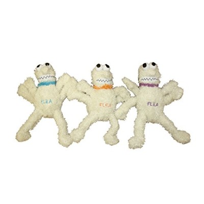 Multipet FLEA Plush Dog Squeaker Toy MEDIUM 6-inch