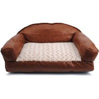 Dallas Manufacturing Co. 29-Inch by 19-Inch Faux Leather Sofa Bed by Dallas Manufacturing Co.