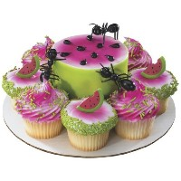 3 Plastic Ants Cake Toppers by Deco