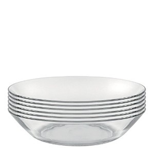 Duralex Made In France Lys 8 Inch Clear Calotte Plate, Set of 6 by Duralex