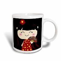 3dローズInspirationzStore squeables–Cute Kawaii Cartoon Japanese Chineseガール人形in Traditionalレッドゴールドドレス...