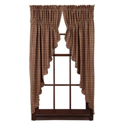 Prescott Prairie Curtain Scalloped Lined Set of 2 36x63x18 by Nancy's Nook