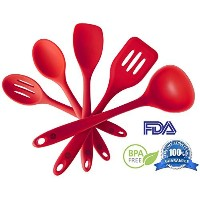 StarPack Premium Silicone Kitchen Utensil Set (5 Piece) in Hygienic Solid Coating - Bonus 101...