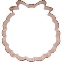 CopperGifts : Wreathクッキーカッター–Large