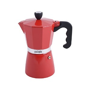 La CafetiereレッドClassic 6Cup Stovetopエスプレッソ