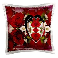 josfauxtographee抽象–Roses Made inハート–枕ケース 16x16 inch Pillow Case pc_33609_1