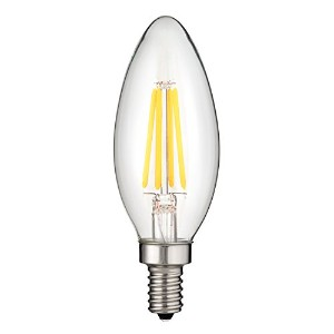 Sunlite CTC / LED / AQ / 6W / e12/ D / CL / 50K LED 6W ( 60W相当) UL ListedクリアアンティークTorpedo Tip...
