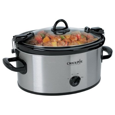 Crock-Pot SCCPVL600S Cook' N Carry 6-Quart Oval Manual Portable Slow Cooker, Stainless Steel by...