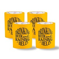 SUPERKOLDIE Raising Hell Foam Can Cooler (イエロー、1サイズ、4 pc )