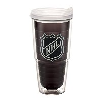 """Tervis 1058516"""" NHLロゴ"""" Tumbler withクリア蓋、エンブレム、24オンス、クォーツ"""