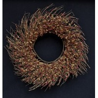 CWI Gifts Pip Twig Wreath, 22-Inch, Burgundy/Old Gold by CWI Gifts