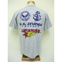 BuzzRickson's[バズリクソンズ] Tシャツ LOCKHEED U.S.AVIATION COMPANY (H.GRAY)