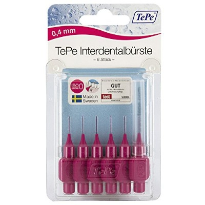 TePe Interdental Brush Original - Pink 0.4mm by TePe Munhygienprodukter AB, Sweden