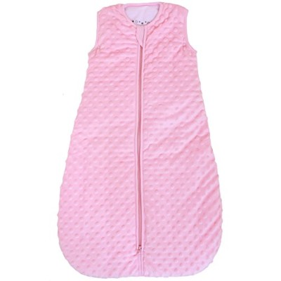 Baby sleeping bag Minky Dot rose, quilted and double layered, 2.5 Togs (Medium (10 - 24 mos)) by...