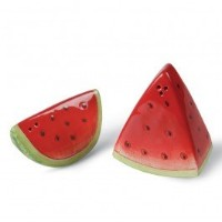 CG ss-cg-260–09Fresh Watermelon with Seeds Two Piece Salt & Pepper Shakers