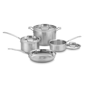 Cuisinart MCP-7N MultiClad Pro Stainless-Steel Cookware 7-Piece Cookware Set by Cuisinart [並行輸入品]