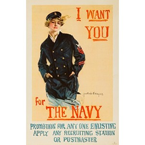 I Want You For The Navyヴィンテージポスター(アーティスト: Christy、ハワードChandler ) USA C。1917 16 x 24 Giclee Print...