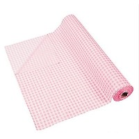 100' X 40 Light Pink Gingham Tablecloth Roll - Party Tableware & Table Covers by FX