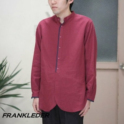 FRANK LEDER(フランクリーダー) / ORGANIC GERMAN LINEN OLD STYLE SHIRT -DARK RED-