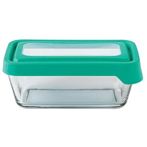 Anchor Hocking 4-3/4 Cup True Seal Rectangular Food Storage Container, Light Green Mint by Anchor Hocking