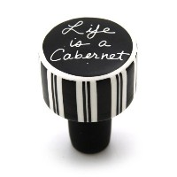 Enesco 4028106 Our Name Is Mud by Lorrie Veasey Life Is A Cabernet Cork Bottle Stopper, 2-Inch ...