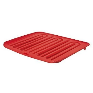 Rubbermaid Antimicrobial Drain Board, Red, (FG1182MARED) Large by Rubbermaid