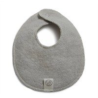 Organic Wool Teething Bib, Soft Grey, 6-12 months by LANACare