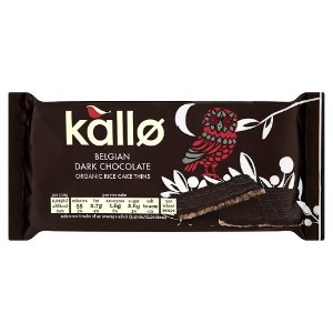 Kallo - Belgian Dark Chocolate Organic Rice Cake Thins - 90g