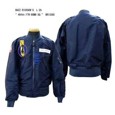 """BUZZ RICKSON'SバズリクソンズL-2A""""494th FTR-BOMB SQ.""""SUPERIOR TOGS CORP. BR13265-14AW「NC」フライトジャケット ミリタリー..."""