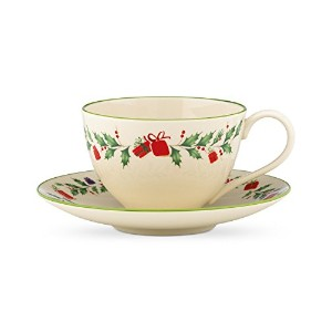 Lenox Holiday Inspirations and Illustrations Cup and Saucer Set by Lenox
