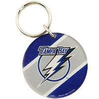 NHL チームロゴ アクリル キーチェーン ライトニング Tampa Bay Lightning High Definition Keychain