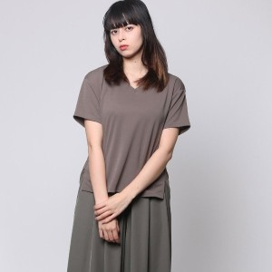 【SALE 50%OFF】コムサイズム COMME CA ISM Vネックとろみブラウスセットアップ (カーキ)