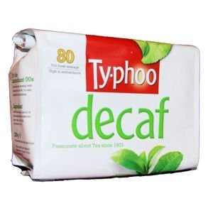Typhoo Decaffeinated Tea, 80 bags per box by Typhoo