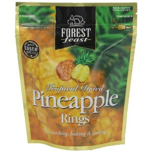 Forest Feast Premium Fruit Doypacks Pineapple Rings 125 g (Pack of 4)